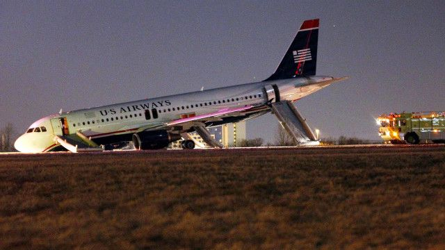 Avión accidentado de US Airways