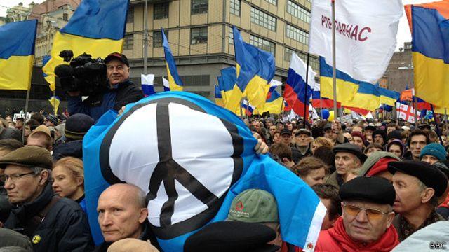 """""""Марш мира"""" в Москве собрал десятки тысяч участников"""