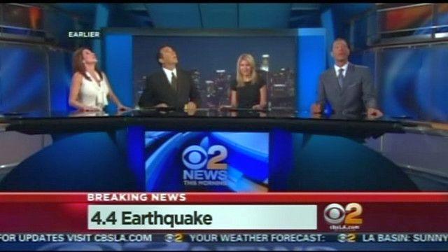 Землетрус в прямому етері