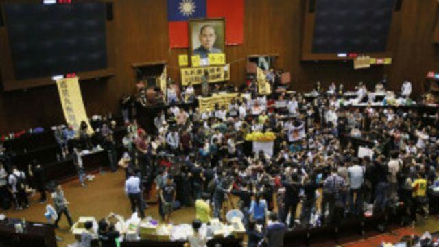 分析:台灣學生佔領立法院抗議服貿協議