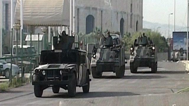 مركبات عسكرية تابعة للجيش اللبناني