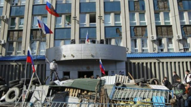 أزمة أوكرانيا: كيري ولافروف يدعوان لحل سلمي لأزمة احتلال المباني الحكومية