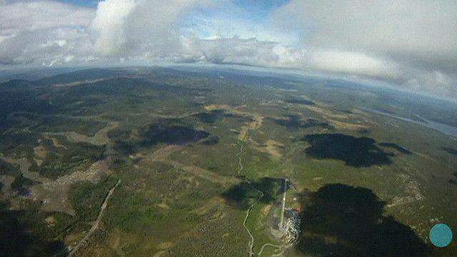 Vista desde un avión antes de saltar en paracaídas