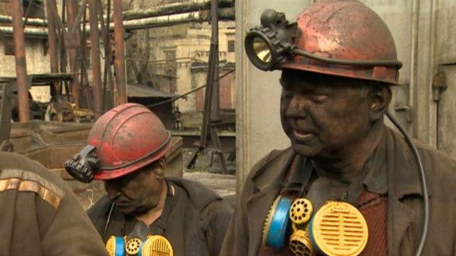 Донецьк, шахтарі