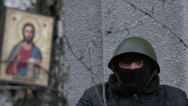 Активист в Славянске