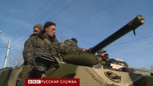 Украинские БТРы в Краматорске