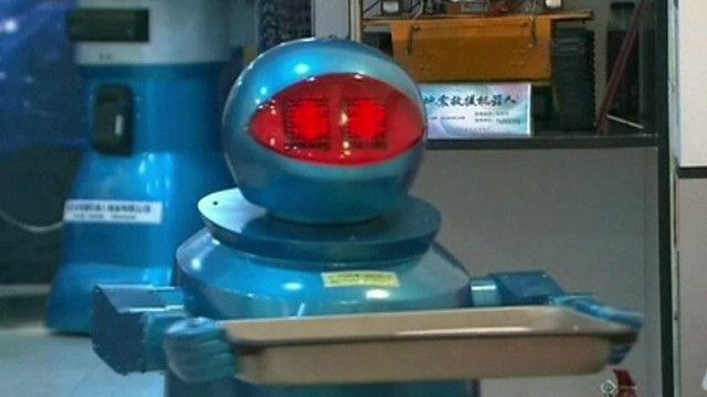 Robô que 'trabalha' em restaurante chinês (BBC)