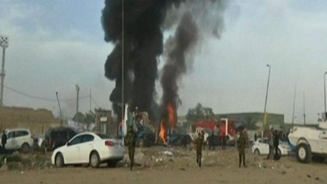 موقع الانفجار في بغداد