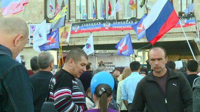 На митинге в Донецке