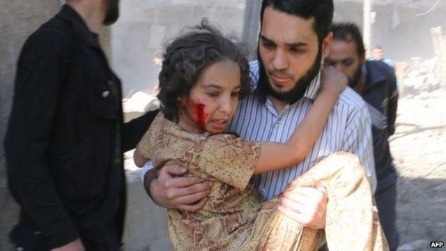 مدينة حلب تعيش في خوف من البراميل المتفجرة