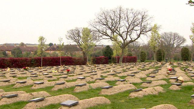 لندن میں ایک قبرستان