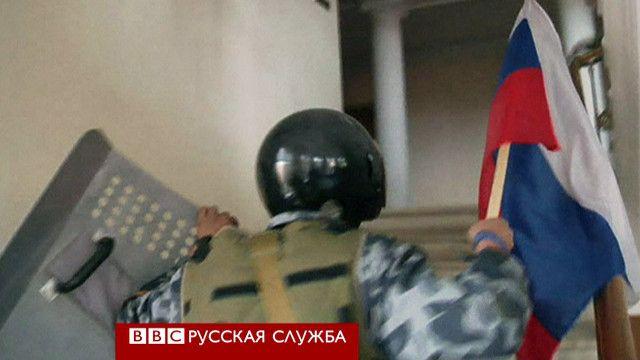 В захваченной администрации Луганской области