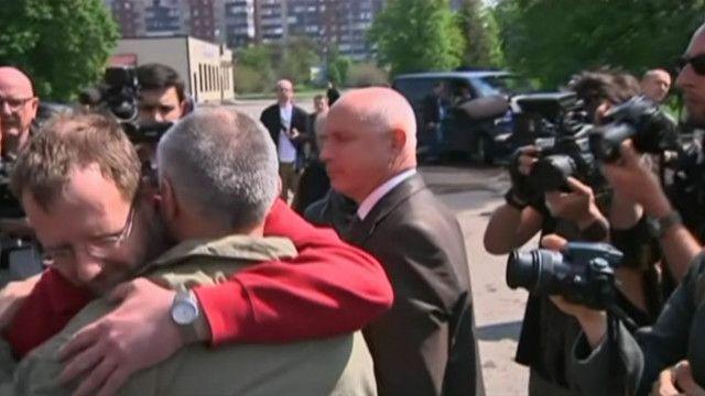 В Донецкой области освободили наблюдателей ОБСЕ