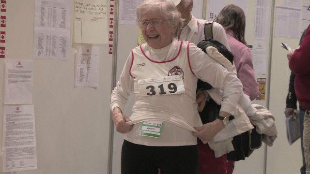 Olga Kotelka competindo. Foto: BBC
