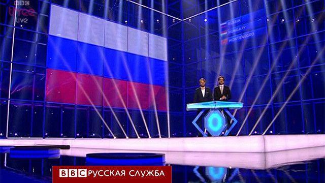 Объявление результата по России на Евровидении