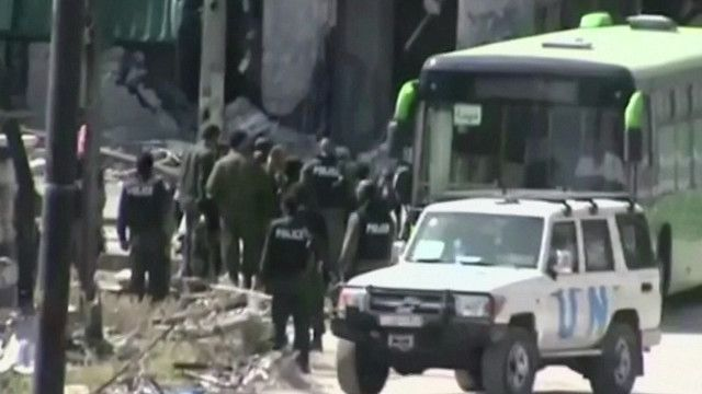 Salida de rebeldes de Homs, Siria