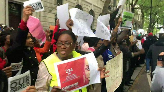 مظاهرة  للجالية النيجيرية في العاصمة البريطانية لندن