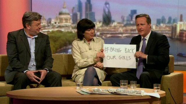 دايفيد كامرون يساند حملة لاطلاق سراح الفتيات