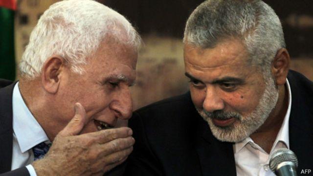 وفدا فتح وحماس يجتمعان في غزة لبحث تشكيل حكومة وفاق وطني