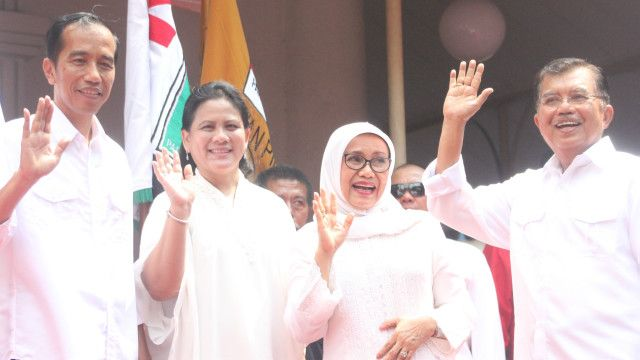 Jokowi, JK beserta istri