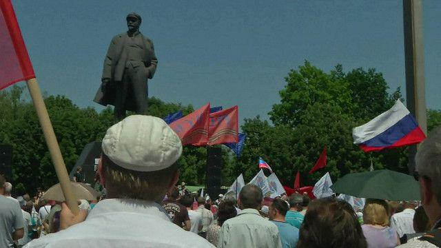 جمهور معارض لاجراء الانتخابات في شرق اكرانيا