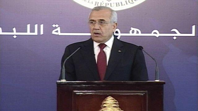 الرئيس اللبناني المنتهية ولايته ميشال سليمان