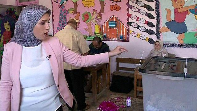 احد مراكز الاقتراع في الاسكندرية
