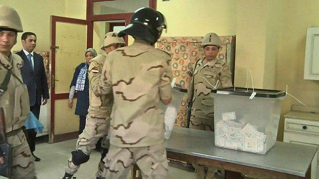احد مراكز الاقتراع قي مصر