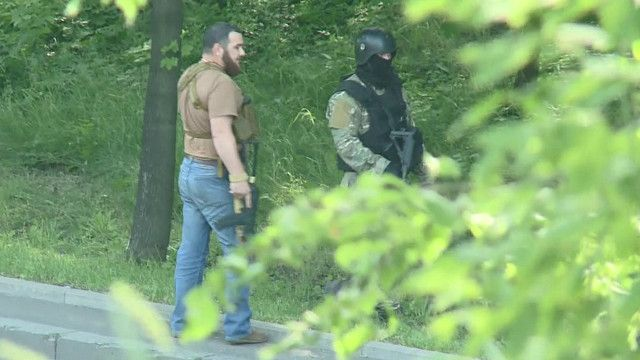 Чеченские боевики в Донецке