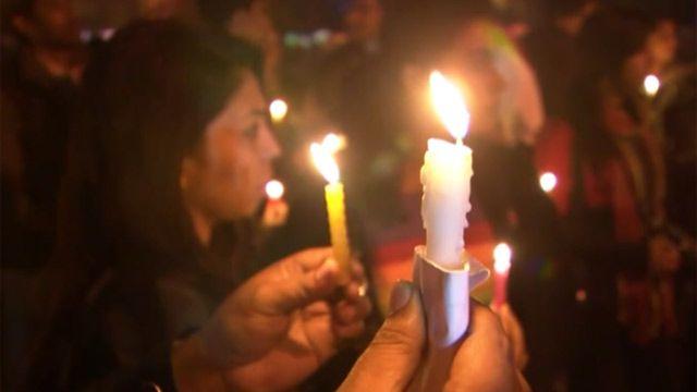 Акция протеста в память о погибших