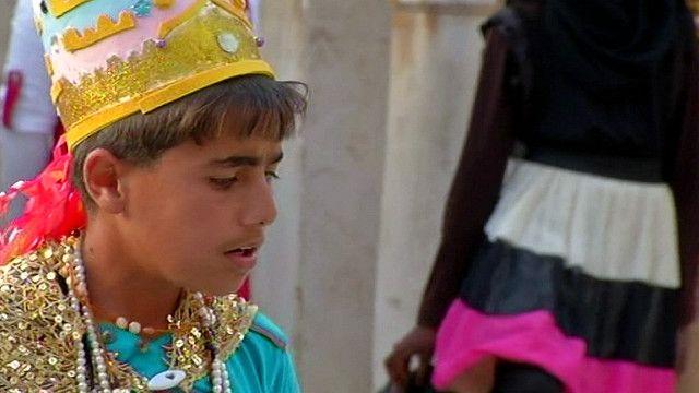 طفل سوري من مخيم الزعتري