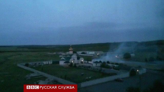 Расположение Луганского погранотряда (кадр с YouTube)