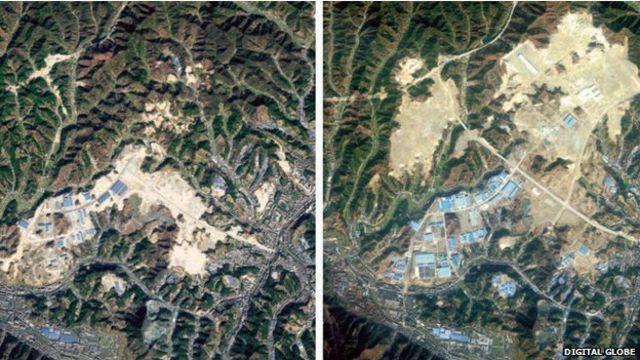La titánica y peligrosa tarea de mover montañas en China