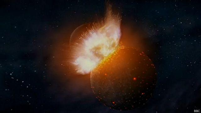 ¿Cómo el choque con otro planeta formó la Luna?