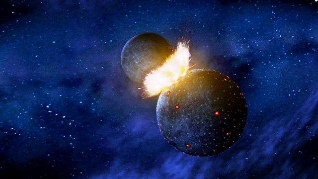 العثور على أدلة بأن القمر تكون نتيجة الاصطدام بكوكب آخر