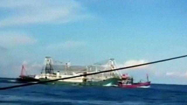 Barco chino embiste bote vietnamita