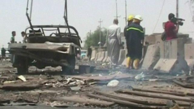 آثار الانفجار في شمال العراق