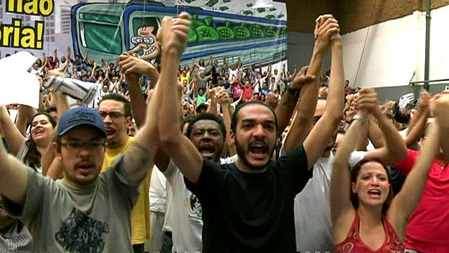 Забастовка работников метро в Сан-Паулу