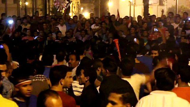 مصريون في التحرير احتفالا بتنصيب السيسي