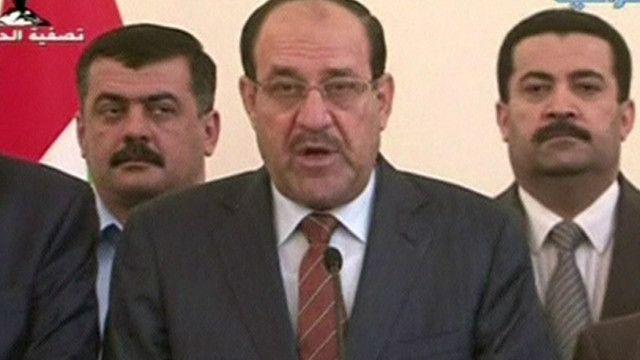 نوري المالكي رئيس الوزراء العراقي