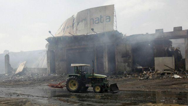 کراچی ائرپورٹ پر ددہشت گرد حملے کے بعد کا ایک منظر