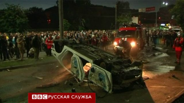 Посольские автомобили перевернули