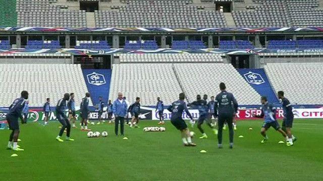 المنتخب الفرنسي اثناء التدريب