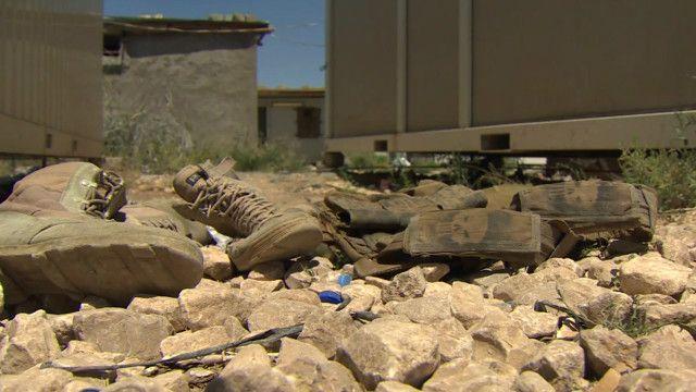 soldados iraquianos abandonaram suas posições | BBC