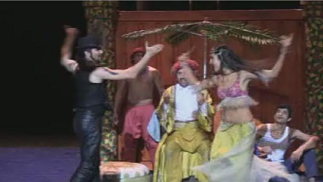 صحنه ای از تئاتر علی بابا