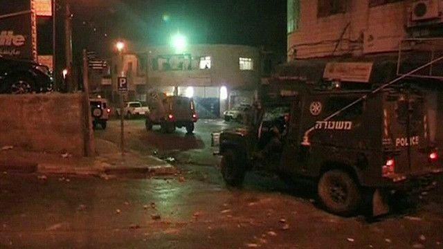 مركبات للجيش الاسرائيلي داخل رام الله