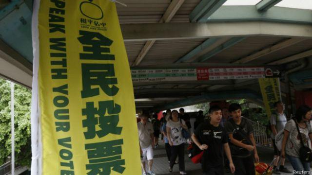 香港「佔中」民間全民投票進入最後一天