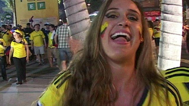 Una fan colombiana