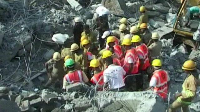 انهيار مبنى في الهند