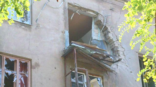 Дома в Краматорске после обстрела